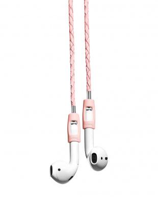 ピンク AirPods専用 レザーストラップを見る