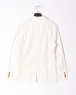ホワイト linen notched jacketを見る