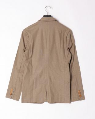カーキベージュ linen notched jacketを見る