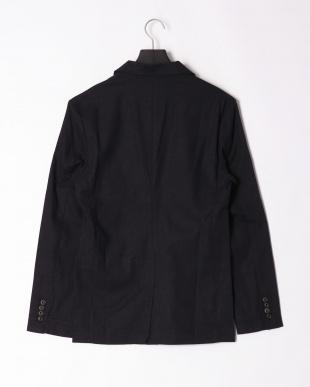 ネイビー linen notched jacketを見る