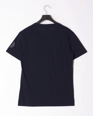 ネイビー sleeve print t-shirtを見る