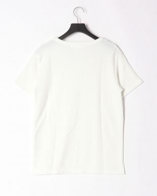 ホワイト pile v cut t-shirtを見る