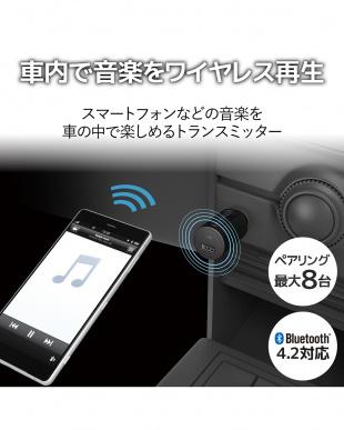 ブラック 「FMトランスミッター」 Bluetooth/USBポート付/2.4A/おまかせ充電/4チャンネルを見る