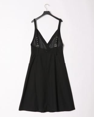 ブラック ロング丈Aラインジャンパードレスを見る