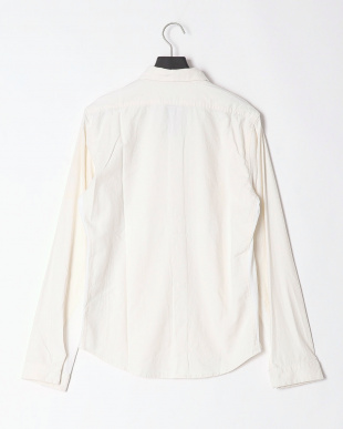 ホワイト linen×jersy combination shirtを見る