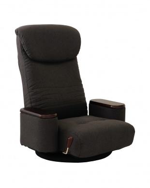 GY 木製ボックス肘付回転座椅子 松風を見る
