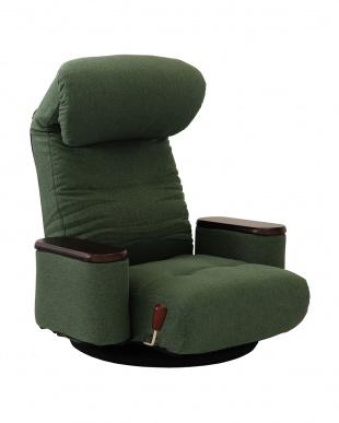 GR 木製ボックス肘付回転座椅子 松風を見る