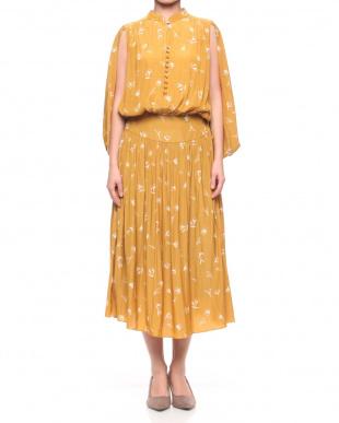 ネイビー Flower Print Dressを見る
