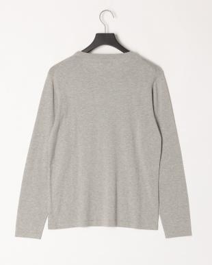 グレー イタリアMANIFATTURE TESSILI BRESCIANE社の素材を使ったニットクルーネックTシャツを見る