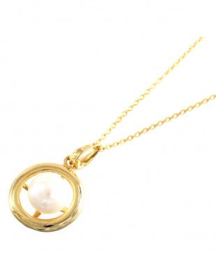 SV/ゴールドカラー あこや真珠 8.0~8.5mm 大珠 サークルネックレス SVを見る