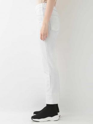 ホワイト 【洗濯機で洗える/日本製】裏起毛3Dプリントパンツ(クロップ丈) HIROKO BISを見る