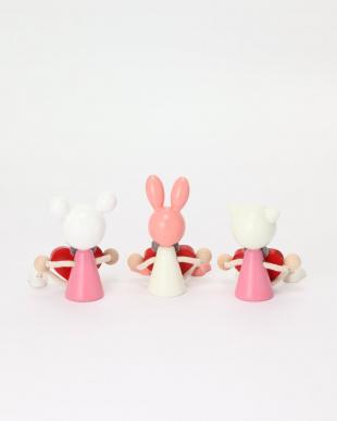 クマ/ウサギ/ネコ 木の人形・ハート 3点セット/ハラチキを見る