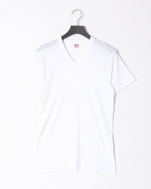 ホワイト  デオドラントインナー V首半袖シャツ 同色2枚組 2点セットを見る