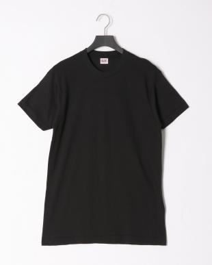 ブラック 綿100% 丸首半袖シャツ 同色2枚組 2点セットを見る