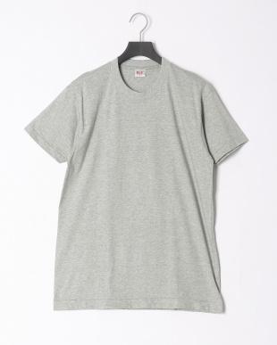 グレー 綿100% 丸首半袖シャツ 同色2枚組 2点セットを見る