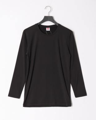 ブラック 瞬暖クルーネック長袖Tシャツ 裏起毛 ストレッチ 帯電防止 2点セットを見る