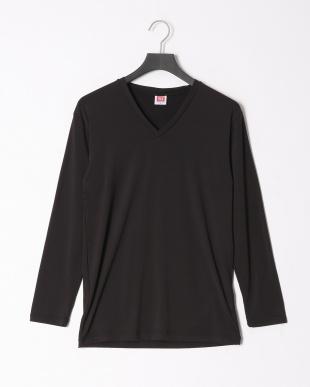 ブラック 瞬暖Vネック長袖Tシャツ 裏起毛 ストレッチ 帯電防止 2点セットを見る