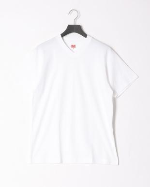 ホワイト  綿100% V首半袖シャツ 同色2枚組 2点セットを見る