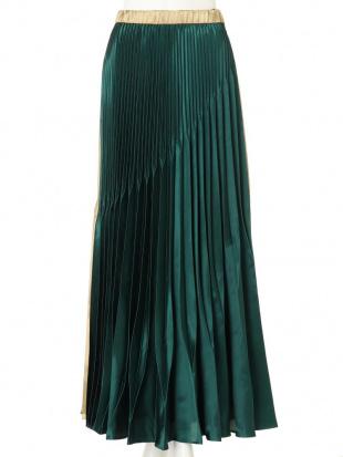 ボルドー オリガミプリーツサテンバイカラースカート UN3D.を見る