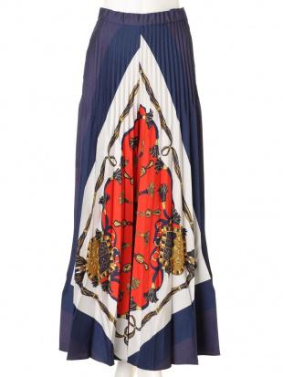 ネイビー オリガミスカーフパンツ UN3D.を見る