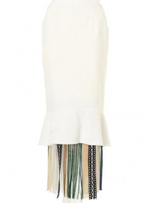 ホワイト トーションレーススカート UN3D.を見る