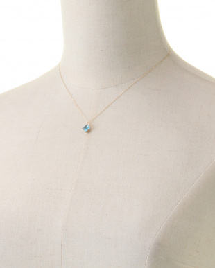 ブルー K10YGスイスブルートパーズネックレス 11月誕生石を見る