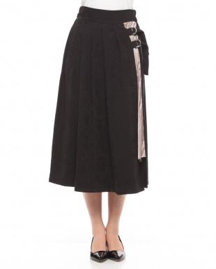 クロ系 プリーツ切替えスカートを見る