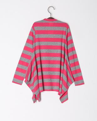 ピンク*グレー ハート柄ボダーTシャツを見る