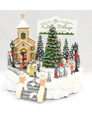LED付オルゴール クリスマスタウンを見る