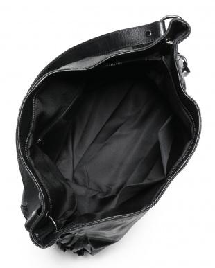 black ANANA カーフ サイド編み込み ワンハンドルショルダー バッグを見る
