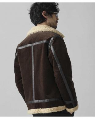 ブラウン コーデュロイB-3ジャケット ナノ・ユニバースメンズ(オリジナル)を見る