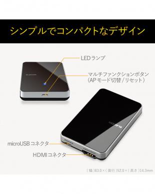 ブラック 「Miracastレシーバ」 簡単接続/Full HD対応を見る