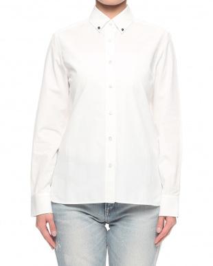 ホワイト UPPER HIGHTS コットンシャツを見る