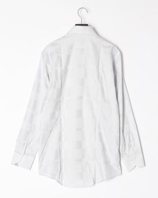 グレー シャドウクレストブリッジチェックセミワイドカラーシャツを見る