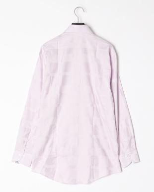 ピンク シャドウクレストブリッジチェックセミワイドカラーシャツを見る