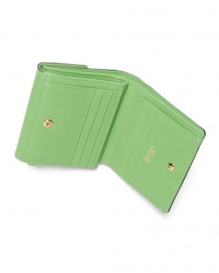 グリーン 二つ折り財布(外小銭入れ付財布)を見る