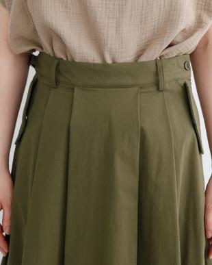 カーキ ボタンダウンポケットスカート1954-0911を見る