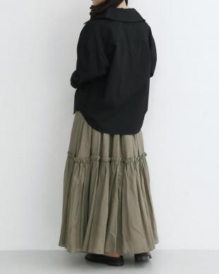 ブラック ビッグカラーコットンシャツ2081-1010を見る