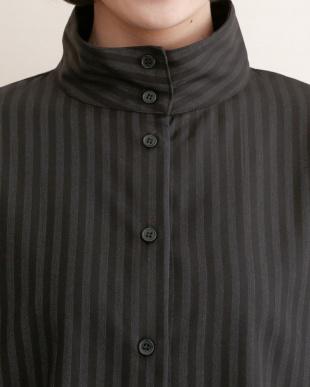 ブラック ストライプハイネックシャツ2238-1107を見る
