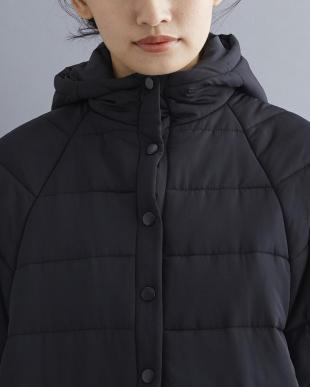 ブラック 高密度タフタ中綿フードポンチョ007-2527-1025を見る