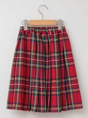 ベージュ [160]チェックプリーツスカート[WEB限定サイズ] a.v.v bout de chouを見る