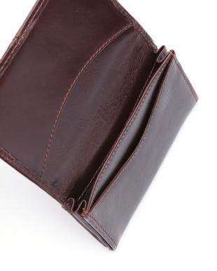 ブラウン クラシックステッチ ビジネスカードケースを見る