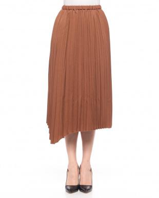 ブラウン ランダムプリーツスカートを見る