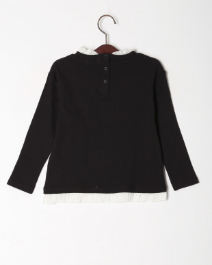 ブラック レイヤード風長袖Tシャツを見る