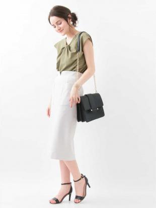 ライトグレー スリットデザインタイトスカート MK MICHEL KLEINを見る