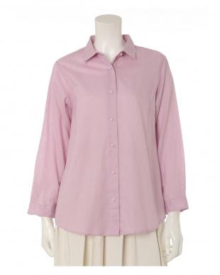 ピンク1 《大きいサイズ》リネン混シャツ ef-de L Sizeを見る