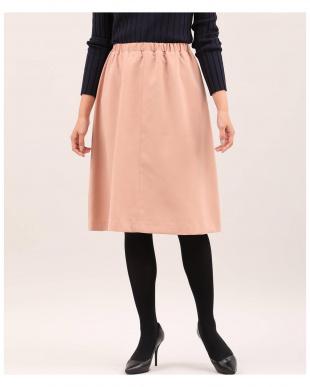 サーモンピンク4 《店舗限定》《大きいサイズ》Aラインフレアスカート INED L sizeを見る