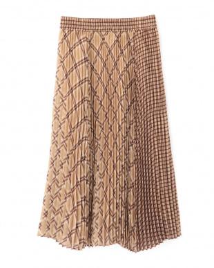 ベージュ  Ray 10月号掲載 シアチェックプリーツスカート Jill by Jill リプロを見る