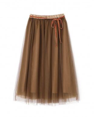 ブラウン  Ray 10月号掲載 ボリュームチュールロングスカート Jill by Jill リプロを見る