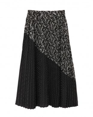 ブラック ◇ブロッキングプリーツスカート Jill by Jill リプロを見る